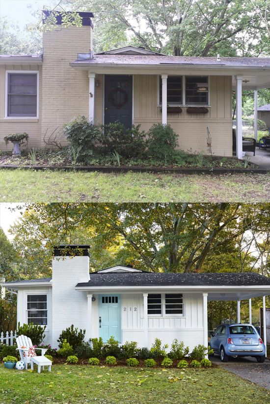 10 Before And After Curb Appeal Photos Home Exterior Makeover Exterior House Renovation House Exterior