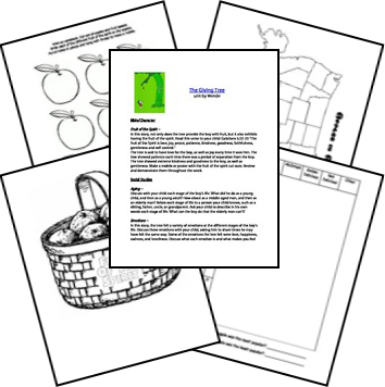 Transformative image with the giving tree printable worksheets
