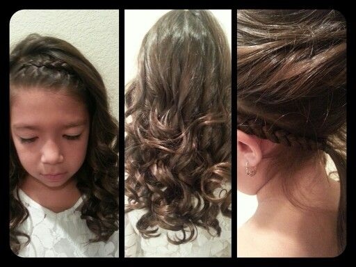 LITTLE GIRL HAIRSTYLE. Headband Style Inside Out French