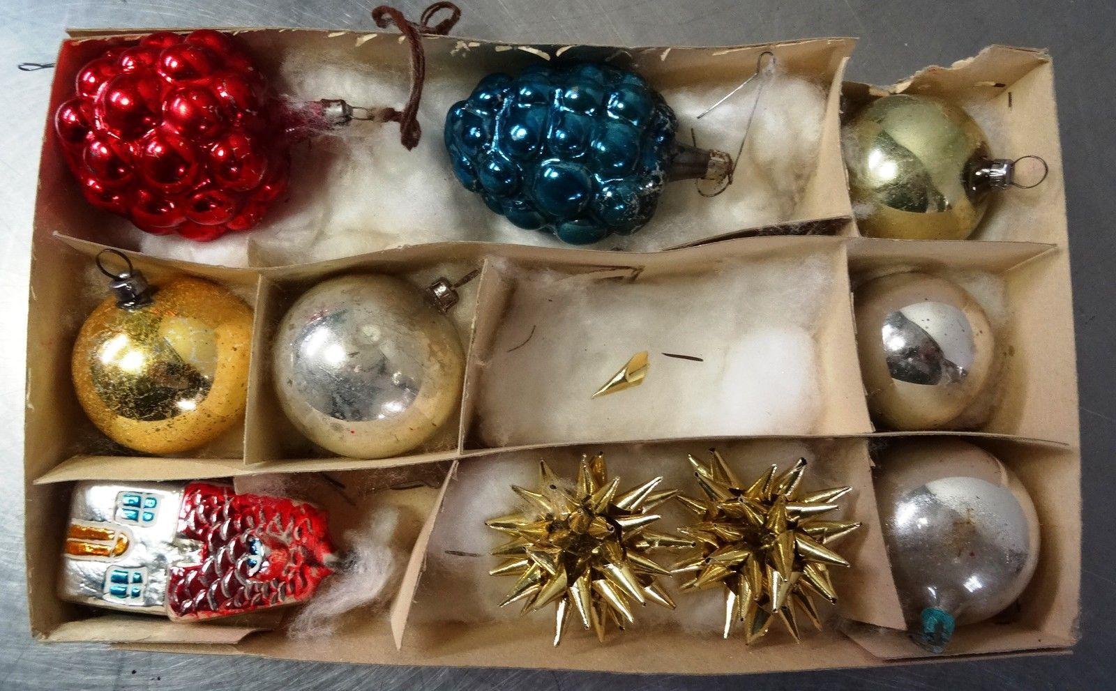 details zu antiker weihnachtsschmuck alt b hmisch 10. Black Bedroom Furniture Sets. Home Design Ideas