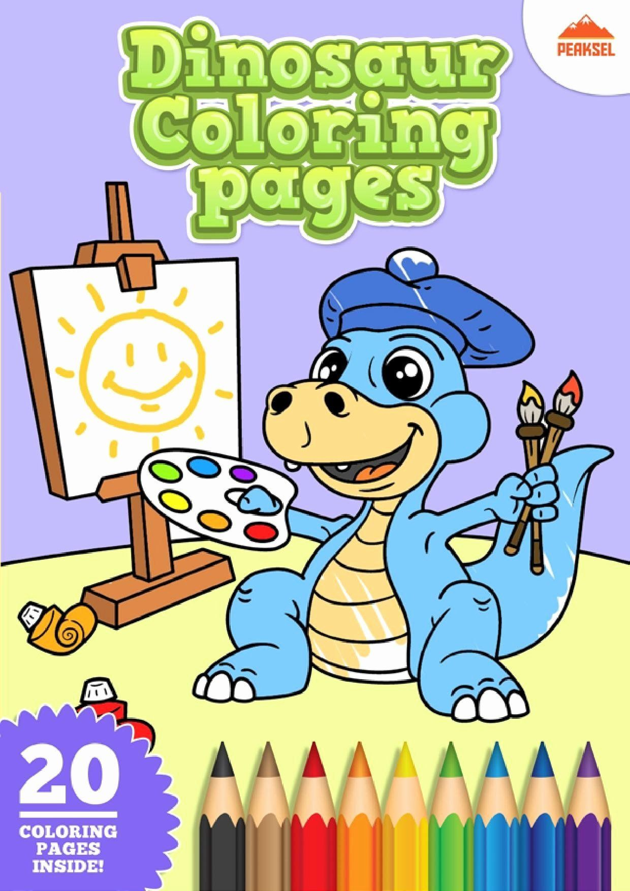 Cartoon Coloring Pages Pdf Unique File Dinosaur Coloring