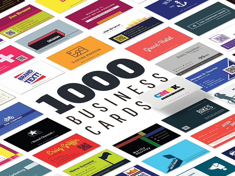 1000 Business Card templates pack by IconShock   free file / freebie ...