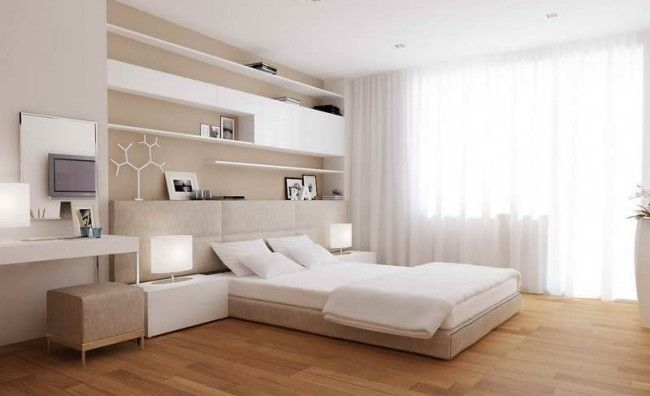 Minimalist Modern Style Master Bedroom Bed Backboards Wooden ...