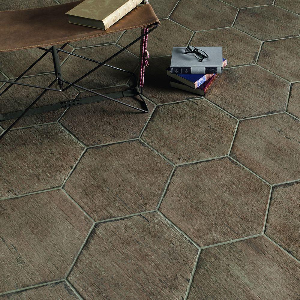 Merola Tile Retro Hex Terra 14-1/8 In. X 16-1/4 In