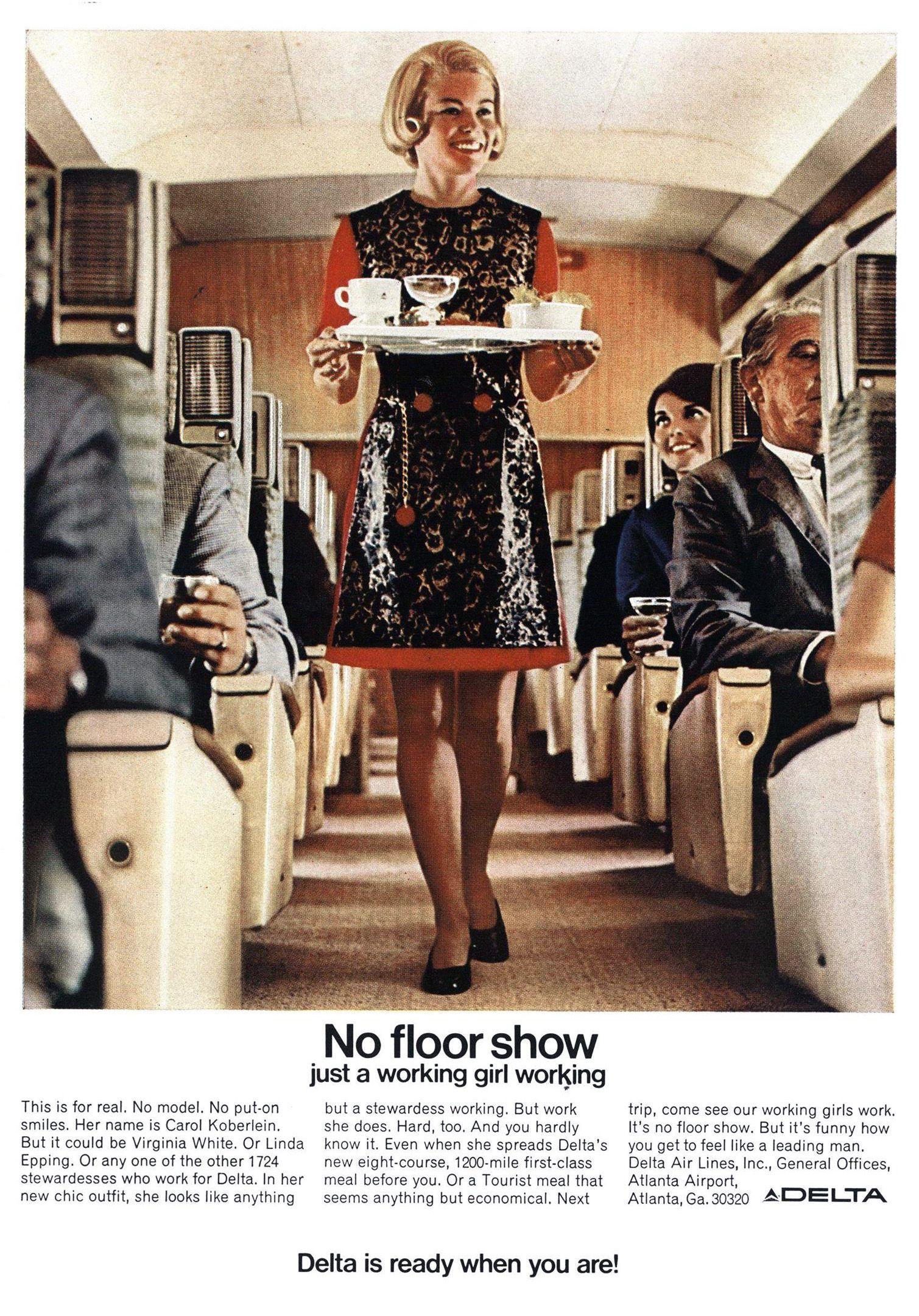 The Air Stewardess In Advertising 1934 1989 Flashbak Delta Airlines Vintage Airline Posters Stewardess