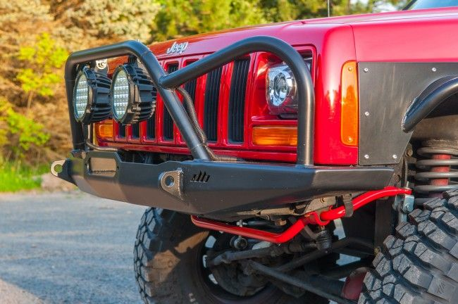 Manta Ray Front Winch Bumper With Brush Guard Jeep Cherokee Xj Winch Bumpers Jeep Xj Jeep
