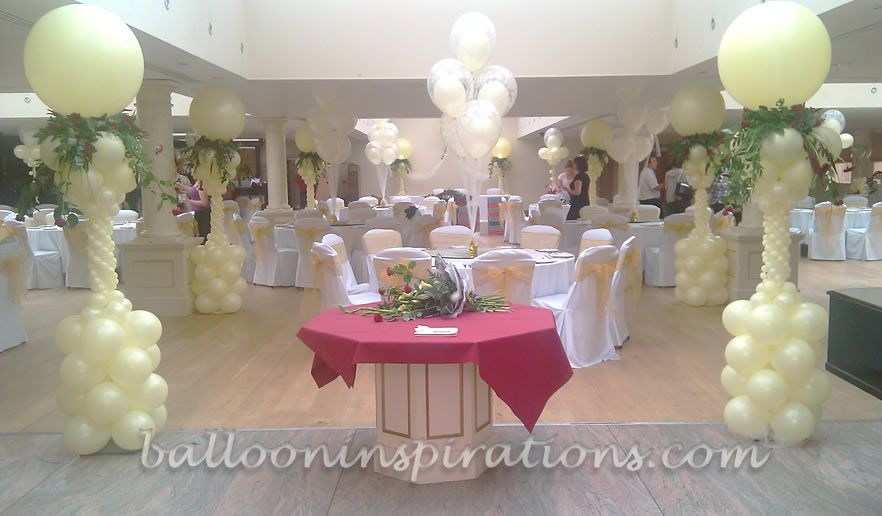 Elegant wedding reception decoration elegant wedding decor 1 balloon columns elegant wedding reception decoration junglespirit Images