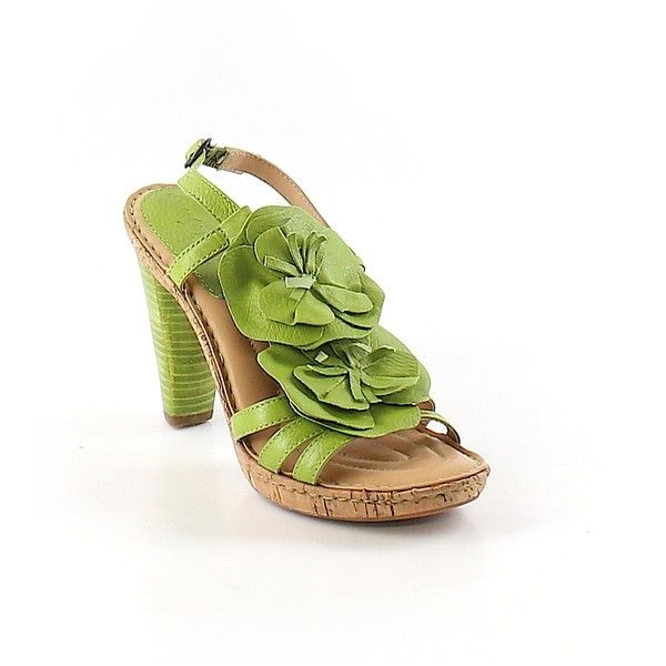 Pre-owned Born Crown Heels Size 5: Light Green Women's Shoes (€25) ❤ liked on Polyvore featuring shoes, light green, born crown shoes, light green shoes and pre owned shoes