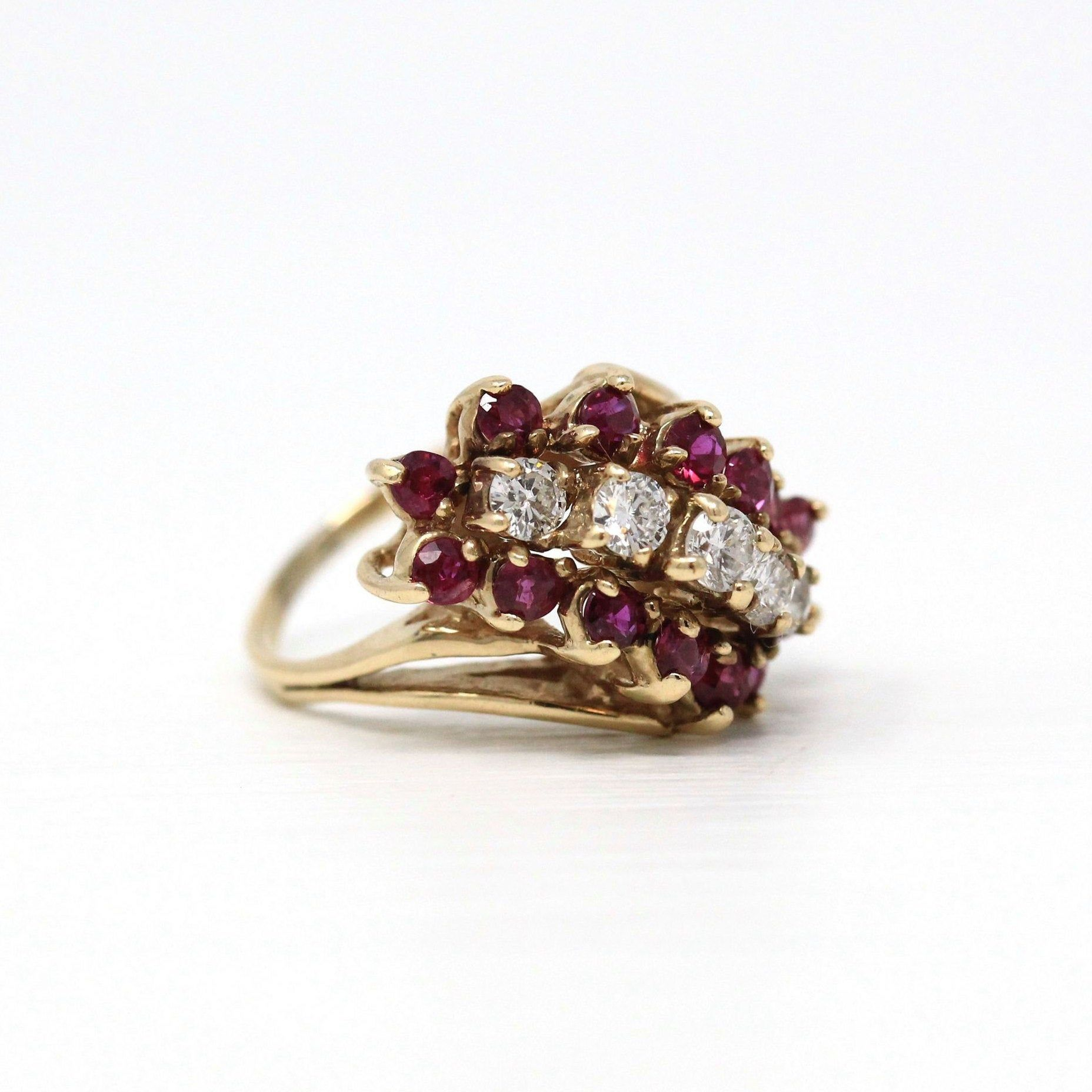 925 Sterling Silver Jewelry Studded With Natural Ruby Gemstone Enamel Ring,,Handmade Statement Ring,Cocktail Ring,New Arrival Women Ring