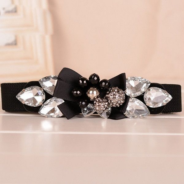 Dames Riemen Voor Vrouwen Cinturones Mujer Elasticos Cinturon Mujer Cuero Women Crystal Rhinestone Belts For Dresses