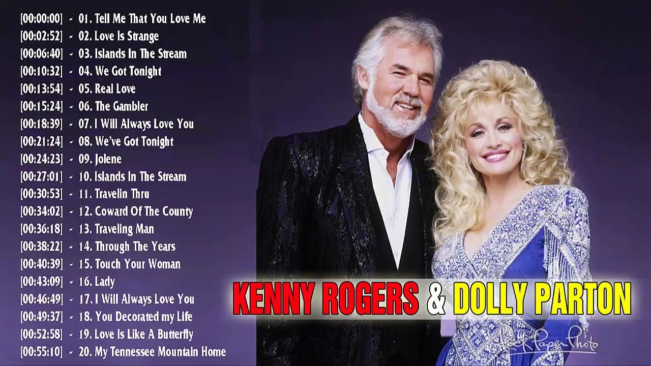 Kenny Rogers, Dolly Parton: Greatest Hits Full Album ...