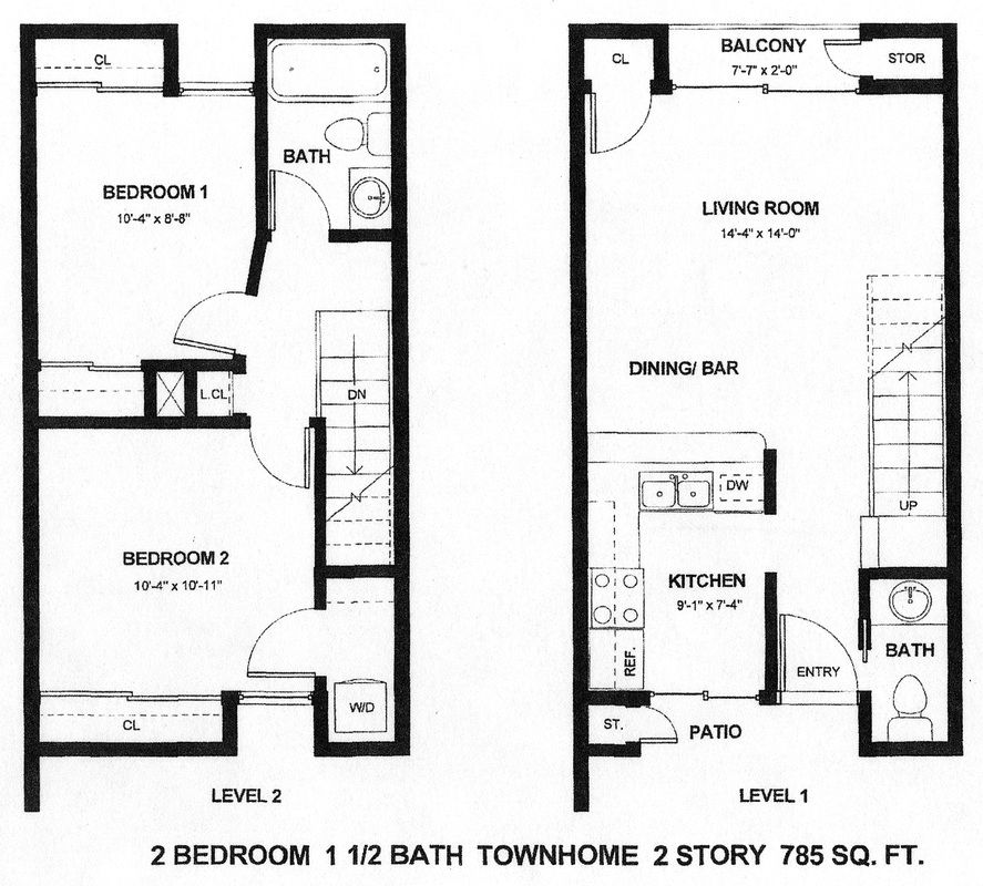 2 story apartment design vernie 39 s home building ideas for Small townhouse floor plans
