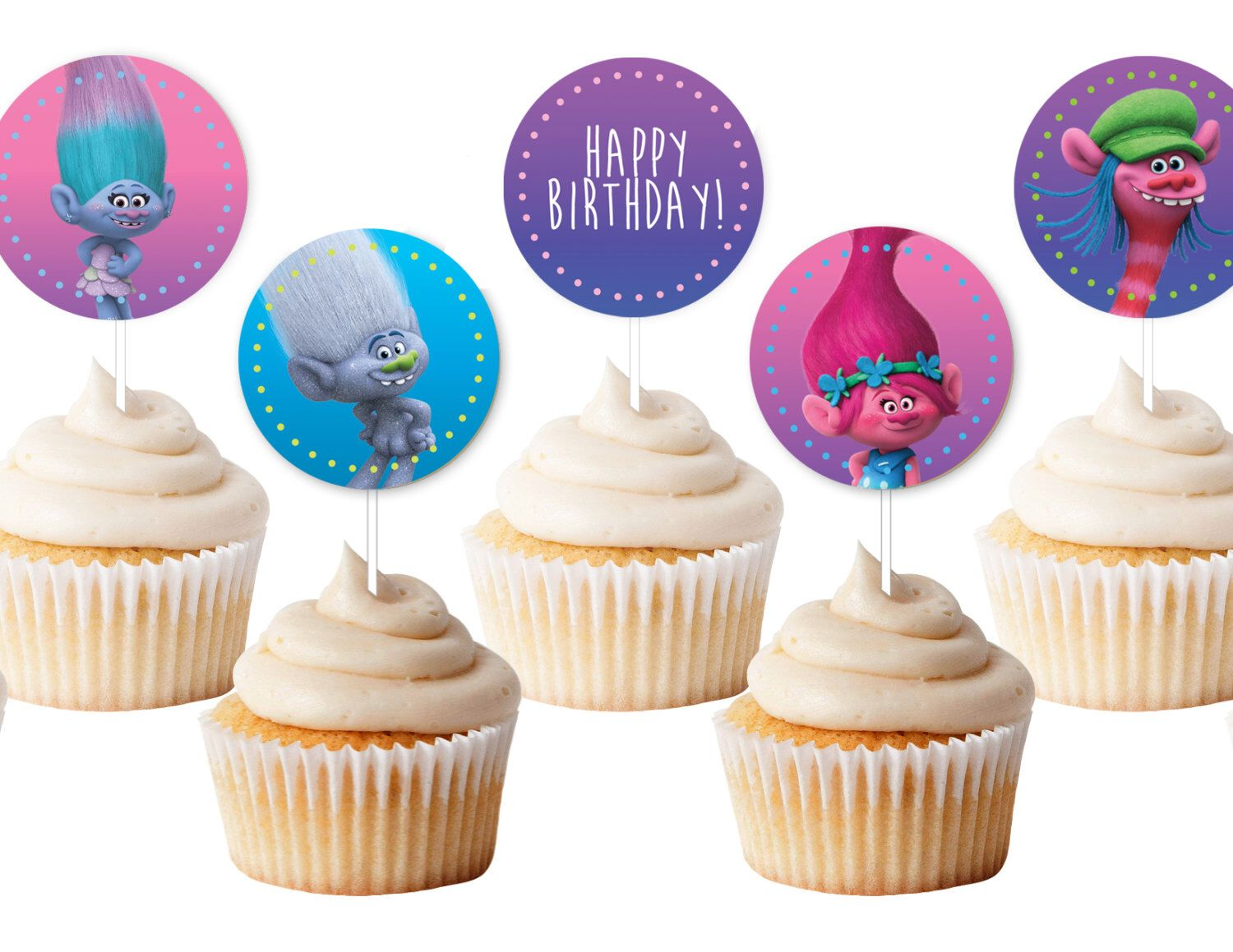 Pin on troll birthday party
