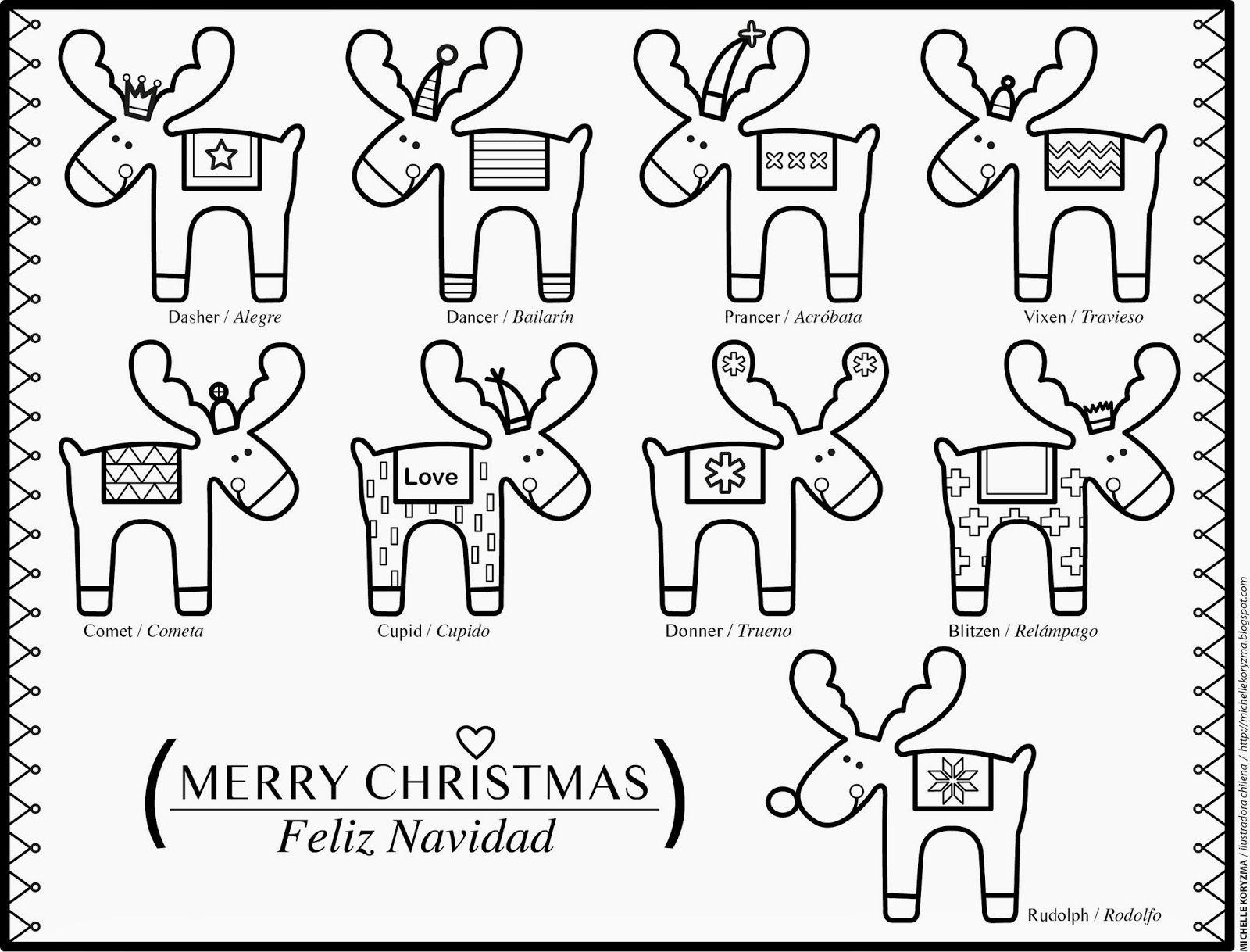 Desde el corazón: XMAS COLORING SHEET - Hoja para colorear Navidad ...