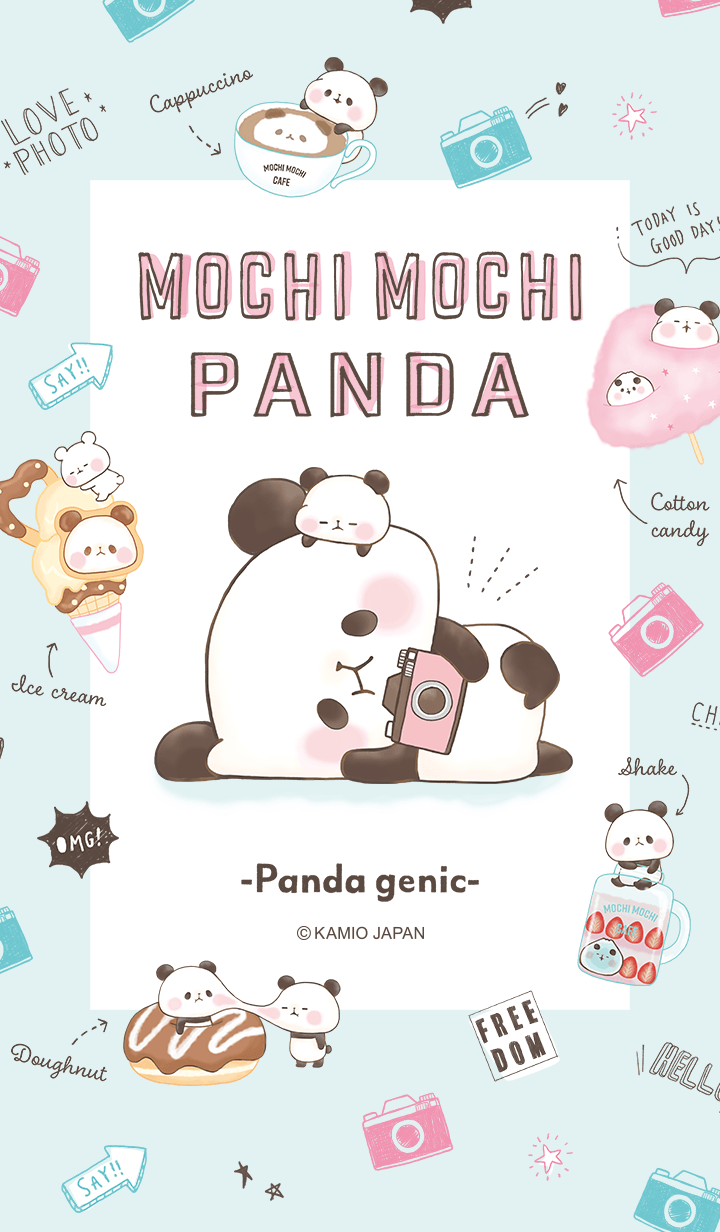 Mochi Mochi Panda Wallpapers From Line S Store Website C Kamio Japan I Will Be Uploading More W Cute Panda Wallpaper Panda Wallpapers Cute Cartoon Wallpapers