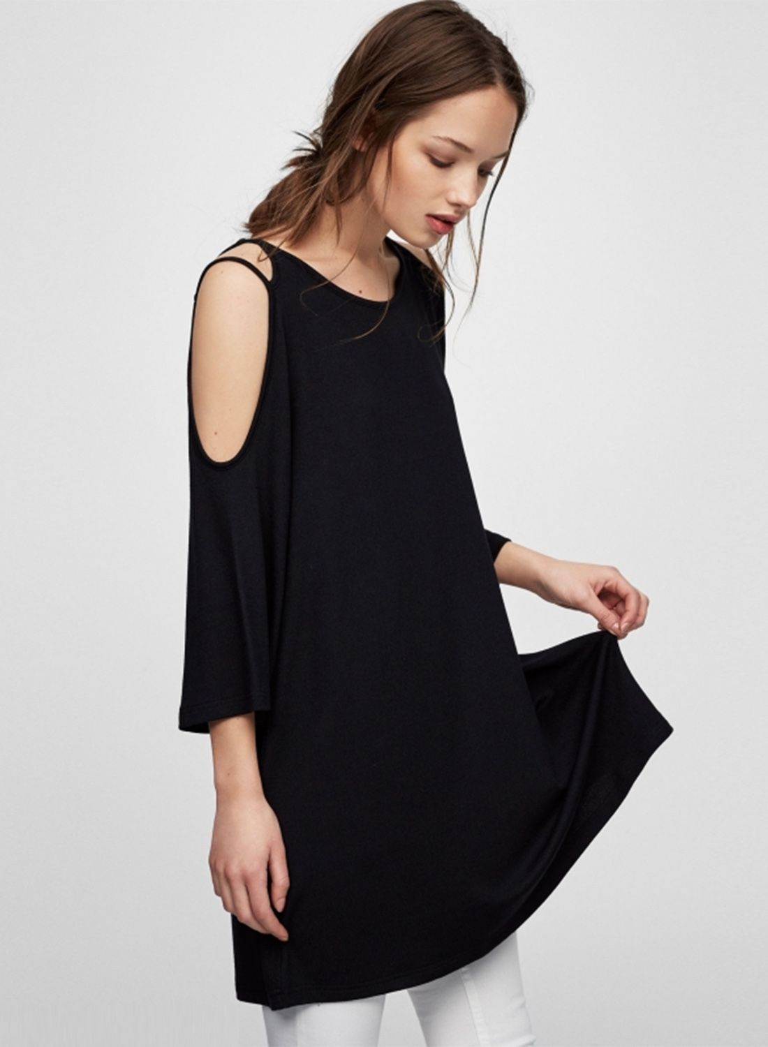 ff8efd2c13a Simple Off shoulder Loose Dress | Dress Up | Dresses, Fashion ...