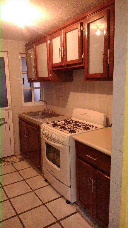 Cocina Integral color nogal rojiso  Muebles para Cocina y