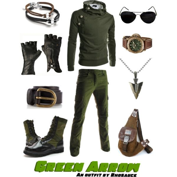 """Green Arrow (masculine)"" by rhosaucey on Polyvore"