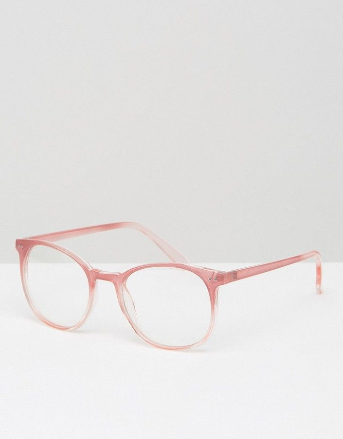 3d38465ab536 Asos Geeky Round Clear Lens Glasses in Pink | Products | Asos ...