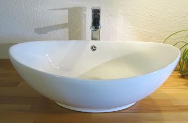 Keramik Aufsatzwaschbecken Oval 63 X 41cm Einrichten Und Wohnen