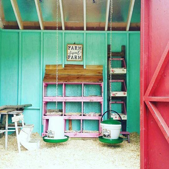 Probably The Most Beautiful Coop Color Scheme Ever I Am Seriously Going To Paint My Living Room And Kitchen Chickens Backyard Chicken Coop Decor Chicken Coop
