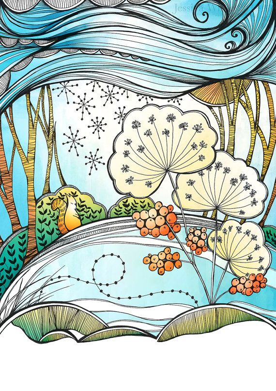 Items similar to Winter Blossom A4 Giclee Fine Art