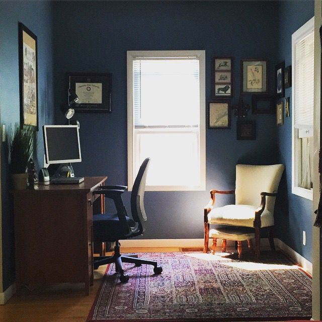sherwin williams smoky blue office decor home on blue office color id=26100