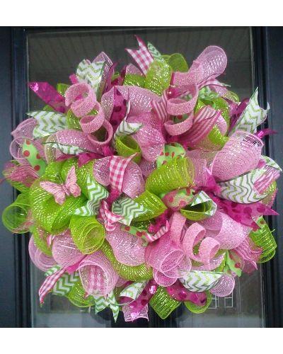 Pink & Green Apple Blossom Wreath | CraftOutlet.com Photo Contest