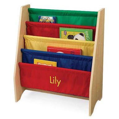 KidKraft 4 Shelf Primary Colored Sling Bookshelf