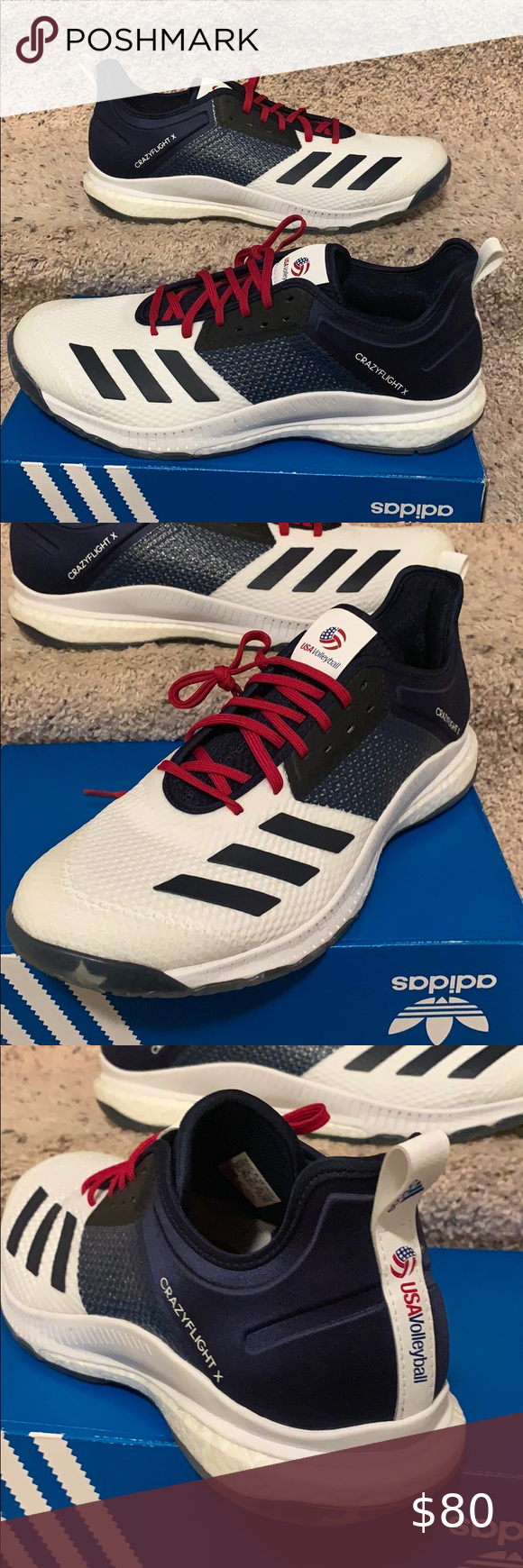 Adidas Crazyflight X3 Volleyball Shoes Women 12 In 2020 Volleyball Shoes Women Shoes Women Volleyball