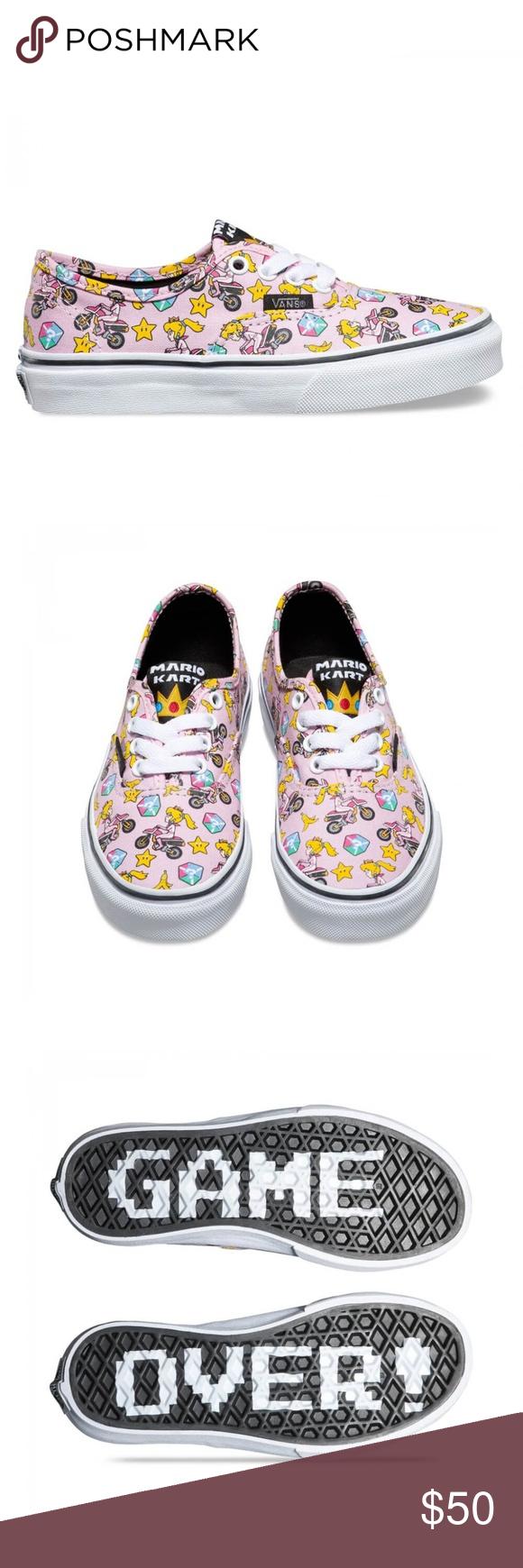 741626c0cd2890 NIB Vans Mario Bros. Princess Peach Shoes Size 8t Vans presents exclusive  graphic prints using