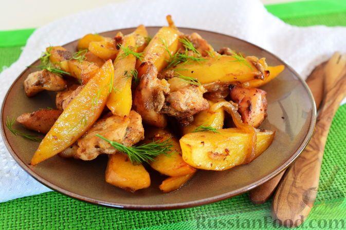 Рецепт Куриная грудка с картофелем (в духовке), cостав ...