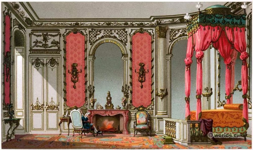 French Rococo Bedroom  Louis XV interieur  18th century fashion and styleFrench Rococo Bedroom  Louis XV interieur  18th century fashion  . Louis Style Bedroom Furniture. Home Design Ideas