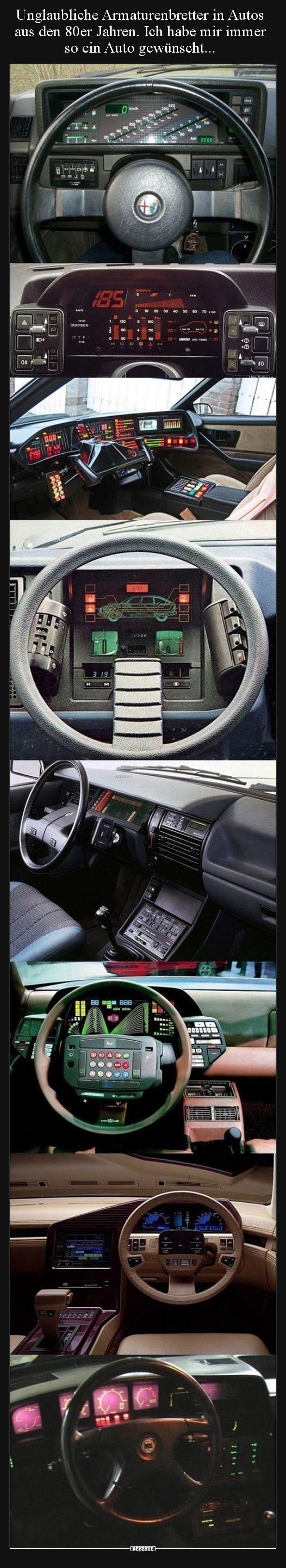 Unglaubliche Armaturenbretter in Autos aus den 80er Jahren... | Lustige Bilder, Sprüche, Witze, echt lustig #amazingcars