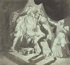 blue gray wash  Pen and black ink and gray wash,  FUSELI