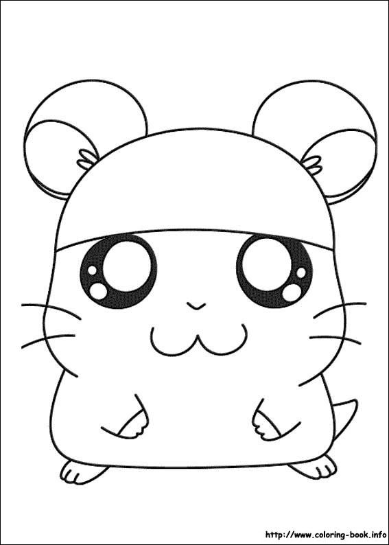 Hamtaro Color Page Cartoon Characters Coloring Pages For Kids Thousands Of Free Printable