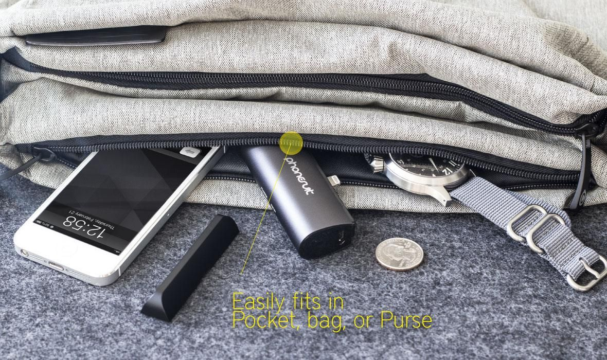 The Phonesuit Flex Pocket Charger Provides Portable Power For Iphone 5 Users And Isn T Humongous Iphone Charger Pocket Chargers Iphone