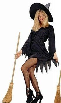 Women's Short Witch Costume Dress (Dress only)