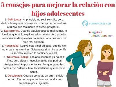 5 Consejos Para Mejorar La Relacion Con Hijos Adolescentes Hijas Adolescentes Padres De Adolescentes Adolescentes
