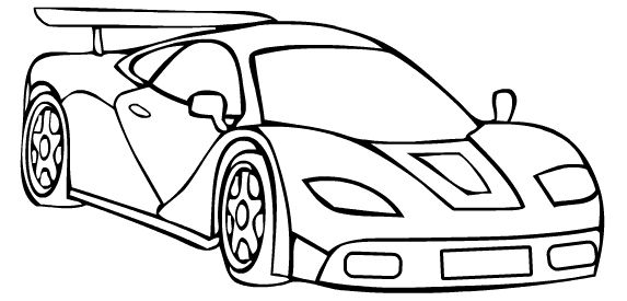 Koenigsegg Race Car Sport Coloring Page | Cars Coloring ...