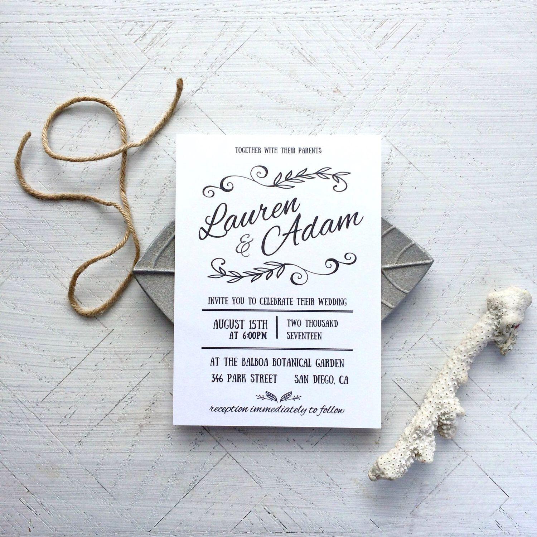 Wedding Invite - Wedding Invitation Template - Printable Wedding ...