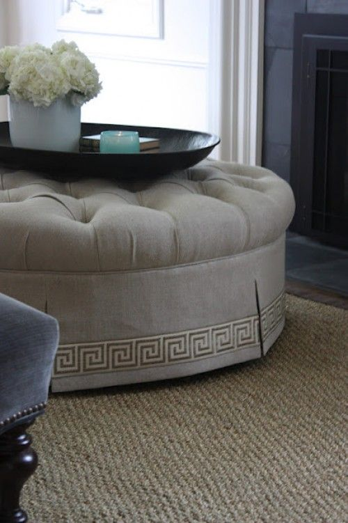 Excellent Ottoman Makeover By Marianne Style For Living Furniture Machost Co Dining Chair Design Ideas Machostcouk