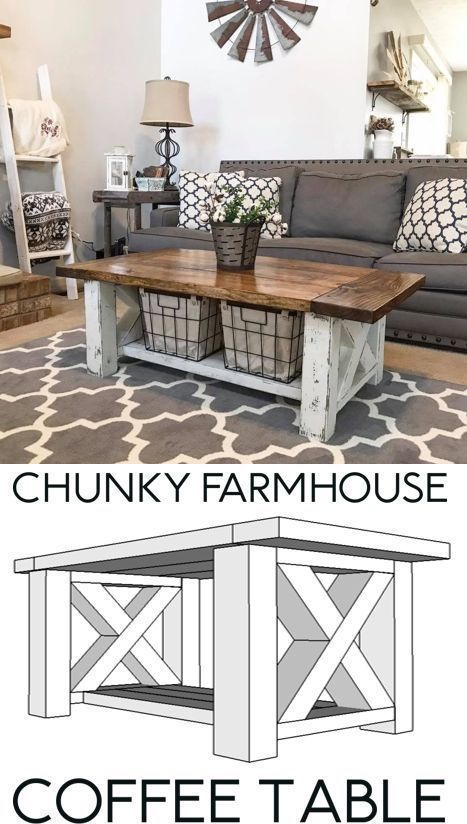 Photo of Chunky Farmhouse Coffee Table