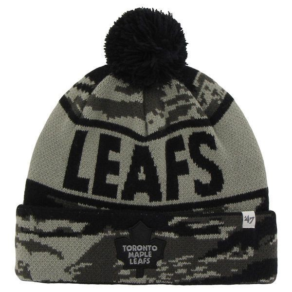 4d7a3df00ea Toronto Maple Leafs  47 Brand Tigertooth Knit Hat - Gray