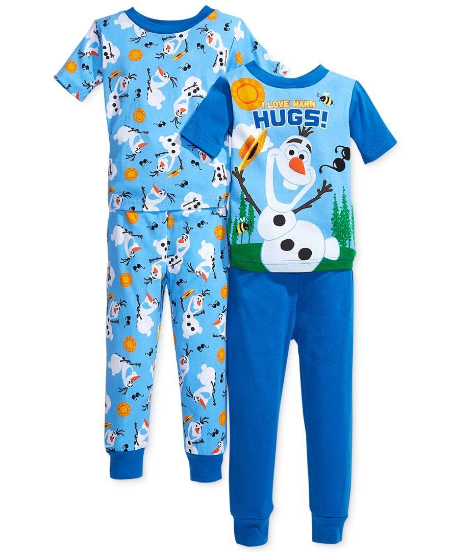 Frozen Toddler Boys' 4-Piece Olaf Pajamas