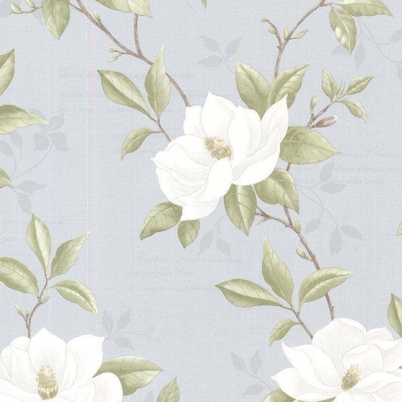 "Cressida 33' x 20.5"" Magnolia 3D Embossed Wallpaper"