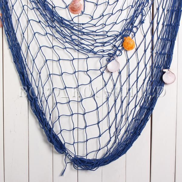 filet de peche decoration decoratif marine mediterraneen fish net 150x200cm esprit bord de mer. Black Bedroom Furniture Sets. Home Design Ideas