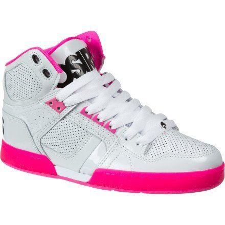 Osiris Women's NYC 83 SLM Skate Shoe,White/Pink/Zebra,7 « Shoe Adds for your Closet #Shoes