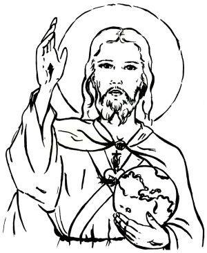 Imagen Del Sagrado Corazon De Jesus Para Imprimir Jesus Para Colorear Jesus Para Dibujar Imagenes De Jesus