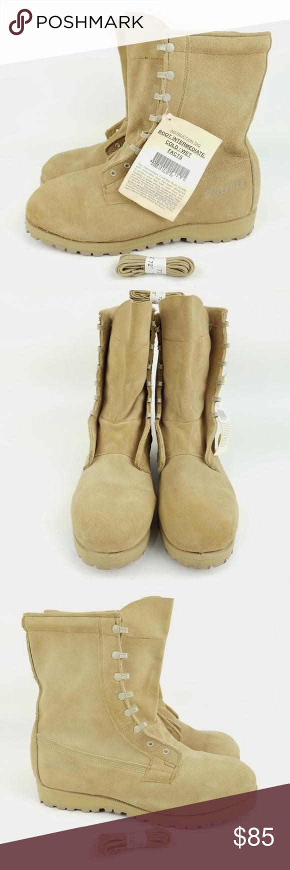 2c3f62ed078 Belleville ICWT 12.5 W Desert Tan Army Boots EH46 USA Belleville ...